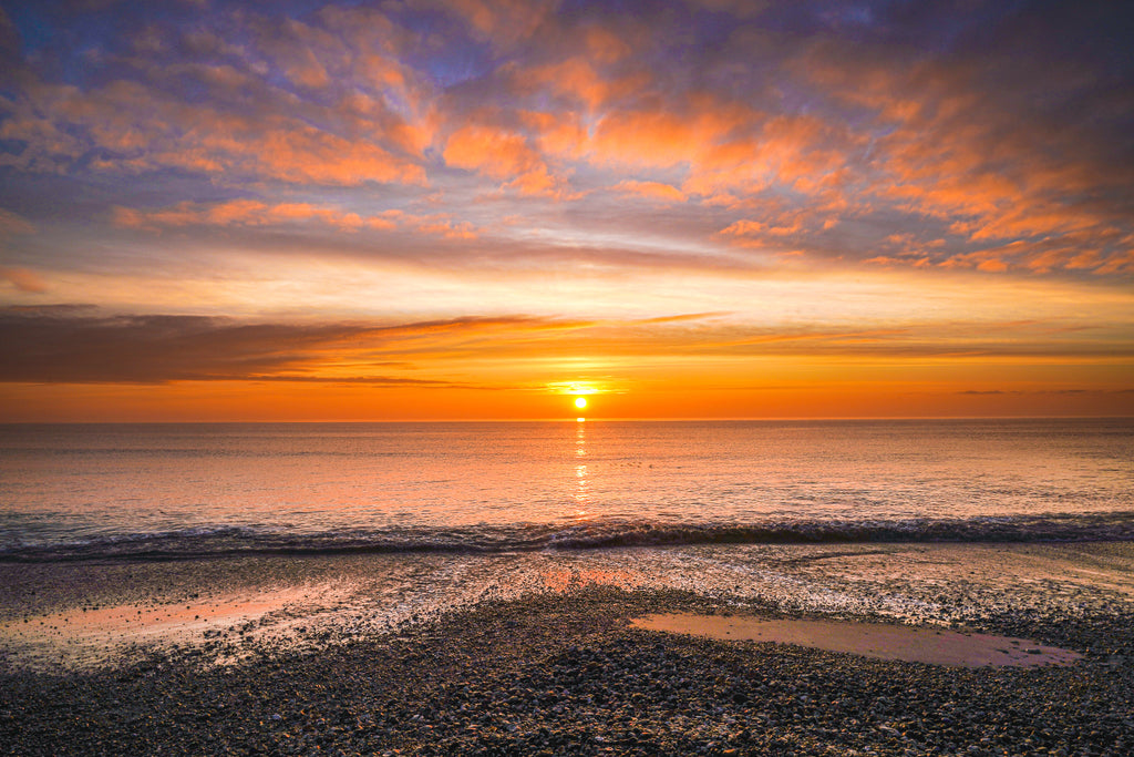 'Pagham Harbour Frosty Morning Sunrise' Canvas Print