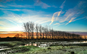 'Winter Sunrise at Medmerry Nature Reserve' Canvas Print