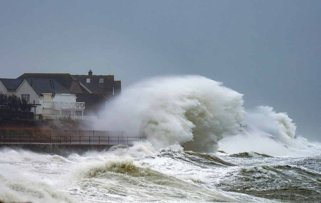 Storm Ciara Hits Selsey, West Sussex' Canvas Print