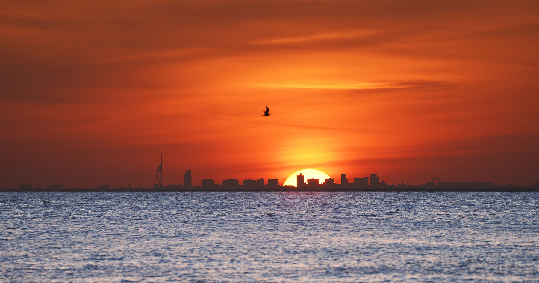 'Spring Sunset Over Portsmouth' Canvas Print