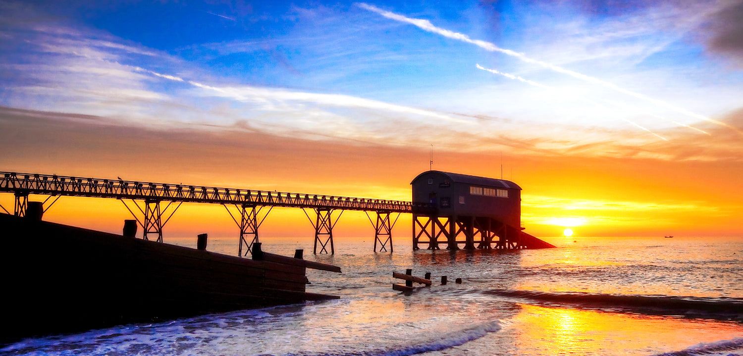 'Winter Sunrise over the Lifeboat Station'  Canvas Print