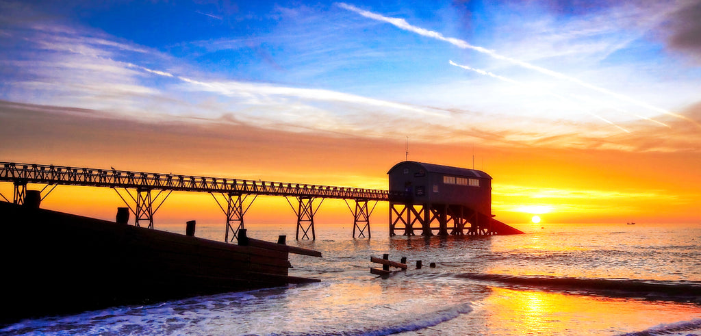 'Winter Sunrise over the Lifeboat Station'  Canvas Print - £45 to £80
