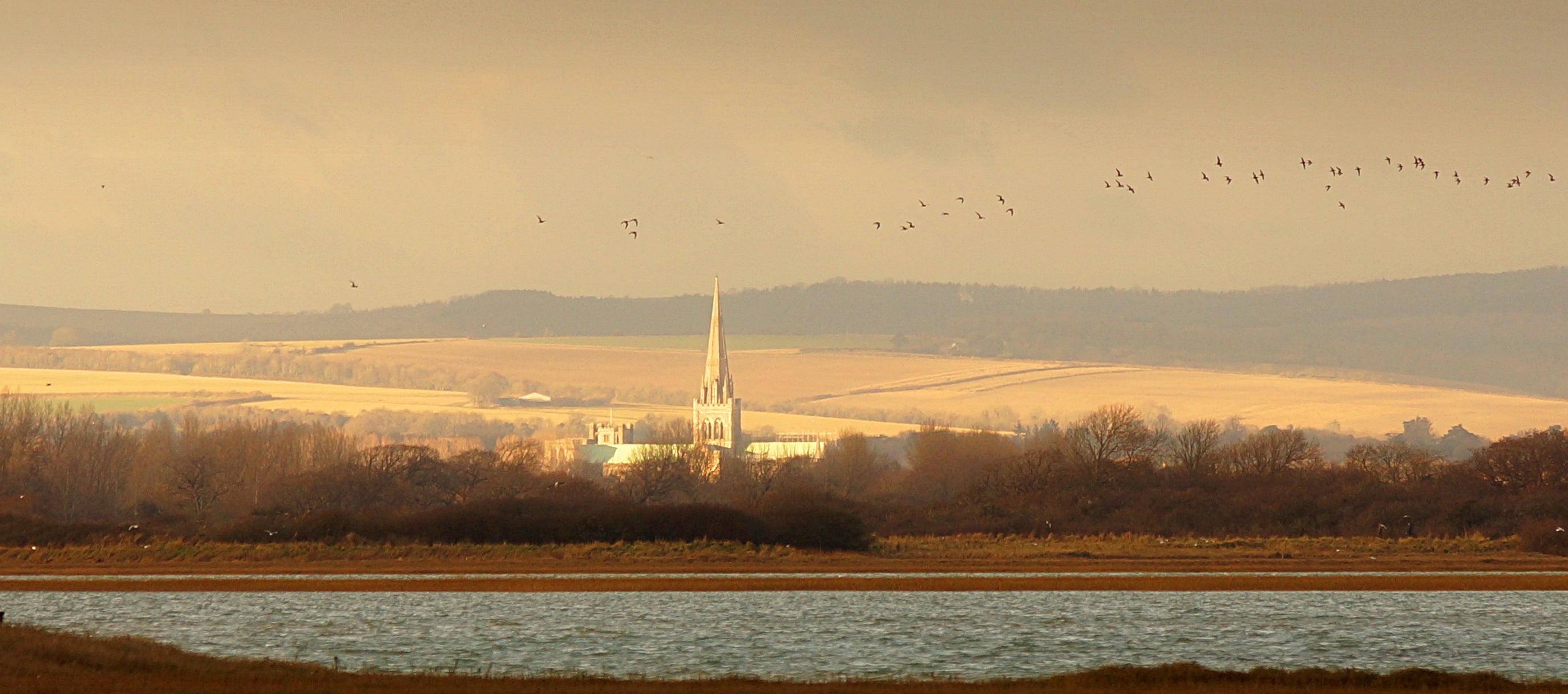 'Chichester Cathedral on a Winter's Afternoon' Canvas Print