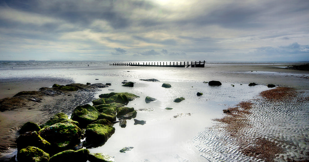 'Moody Medmerry Beach' Canvas Print