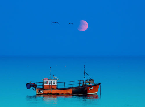 'Mid-Summer Lunar Eclipse' Canvas Print - £55 to £75