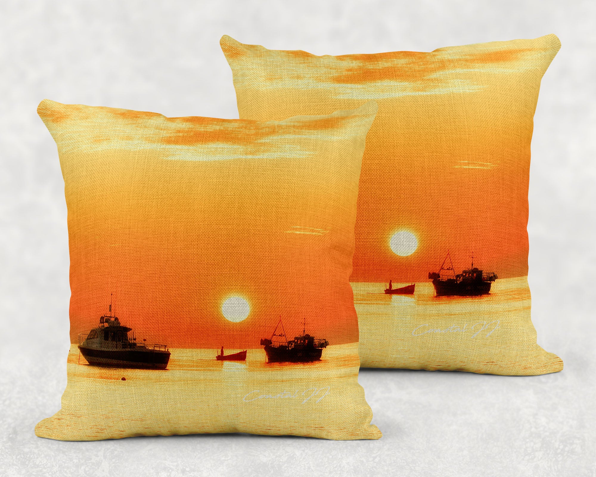'Tranquillity on a Summer's Dawn' - Large Sofa Cushion