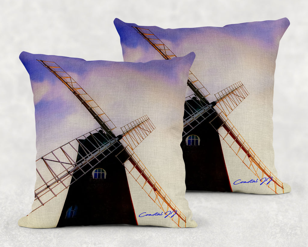 'Selsey Windmill at Dusk' - Large Sofa Cushion