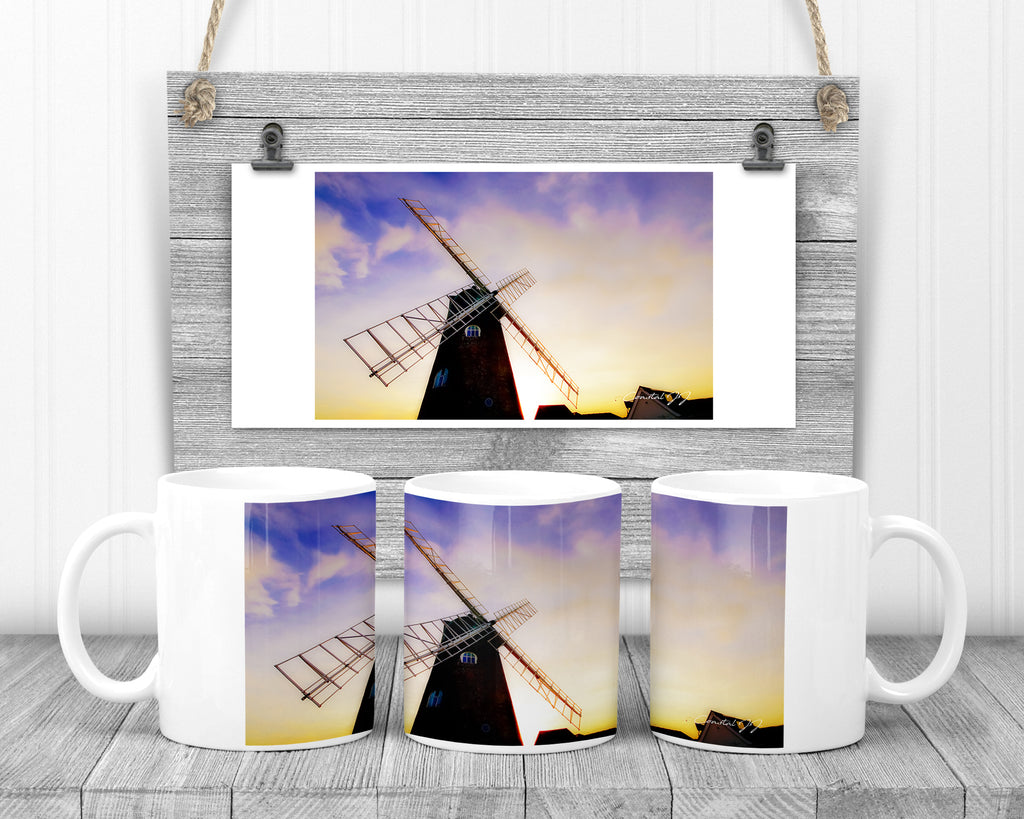 'The Old Selsey Windmill' - 11oz Ceramic Mug