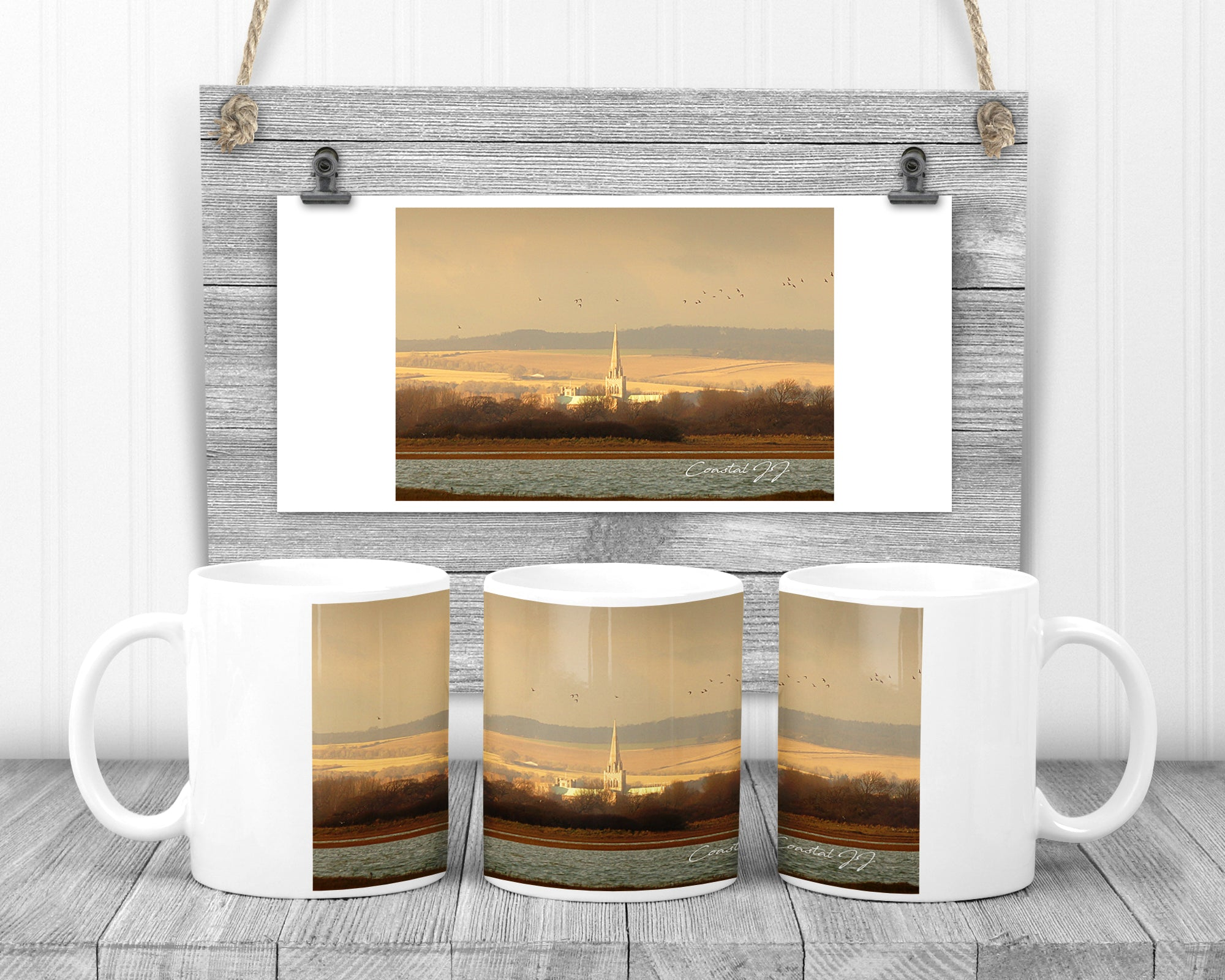 'Chichester Cathedral on a Winter's Afternoon' - 11oz Ceramic Mug
