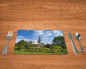 'Bishop's Palace Gardens at Summer's End' -  Single Rectangle Placemat