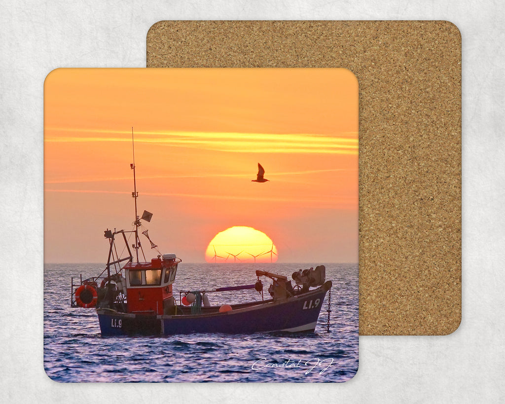 'Golden Glow of Autumnal Sunrise' -  Single Square Placemat
