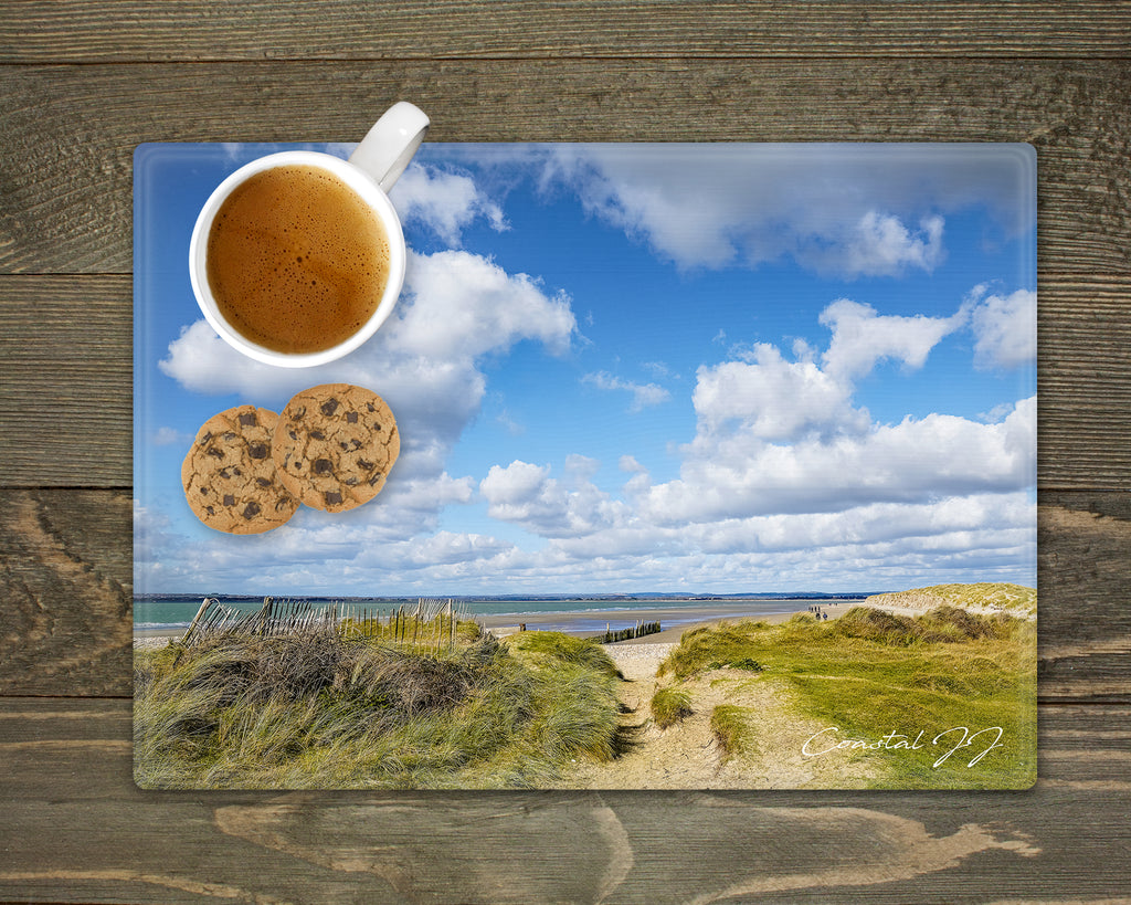 'Blue Skies at East Head' - Worktop Saver and Place Mat