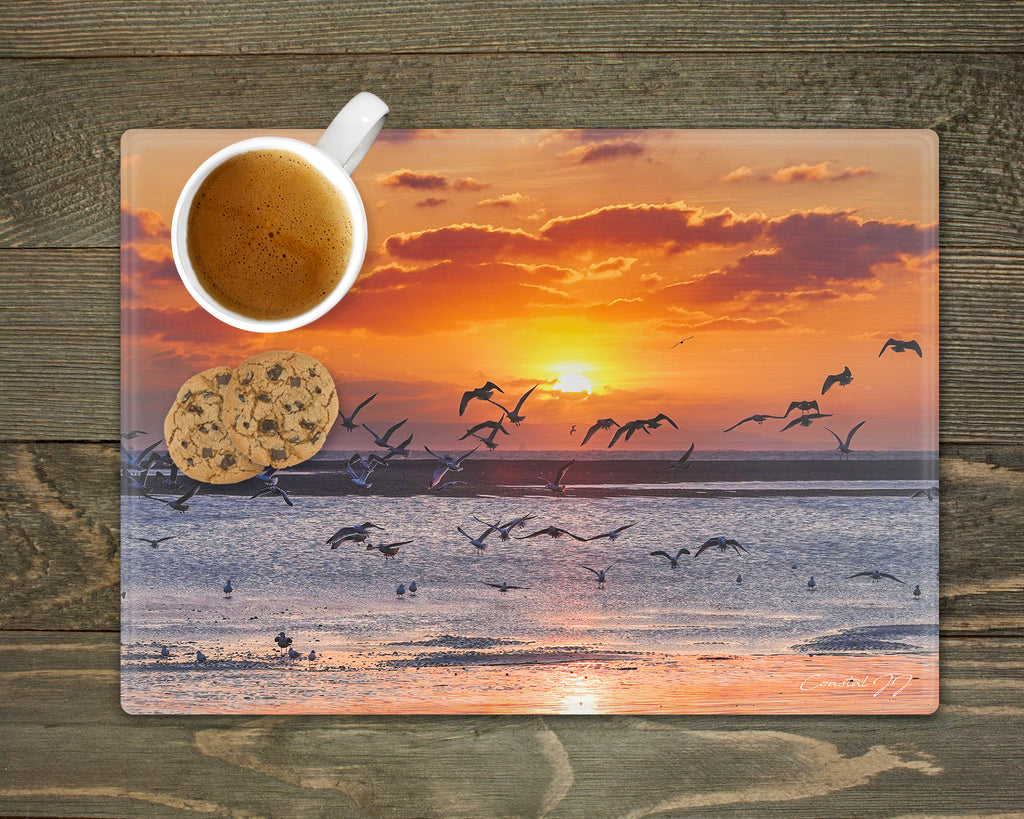 'Seagull Sunset' - Worktop Saver and Place Mat