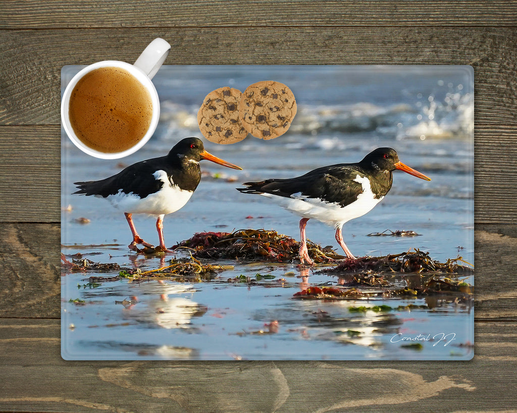 'Oystercatchers on the Shoreline' - Worktop Saver and Place Mat