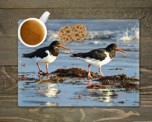 'Oystercatchers on the Shoreline' - Worktop Saver