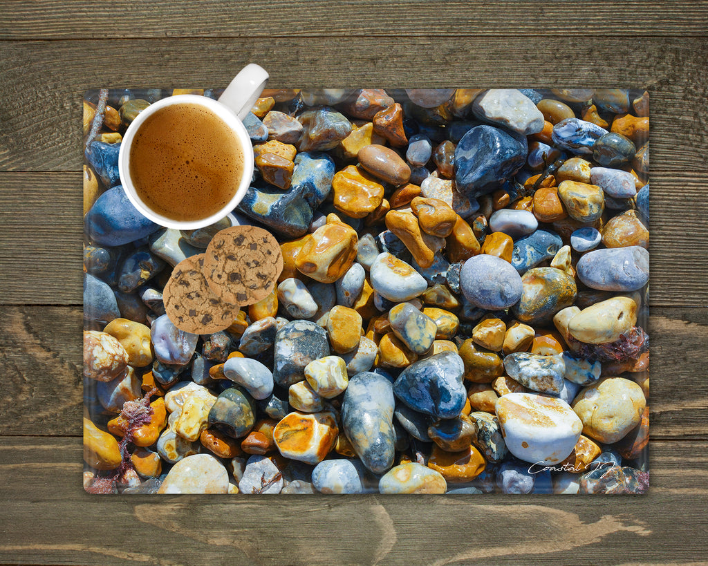 'Pebbles on the Beach' - Worktop Saver and Place Mat