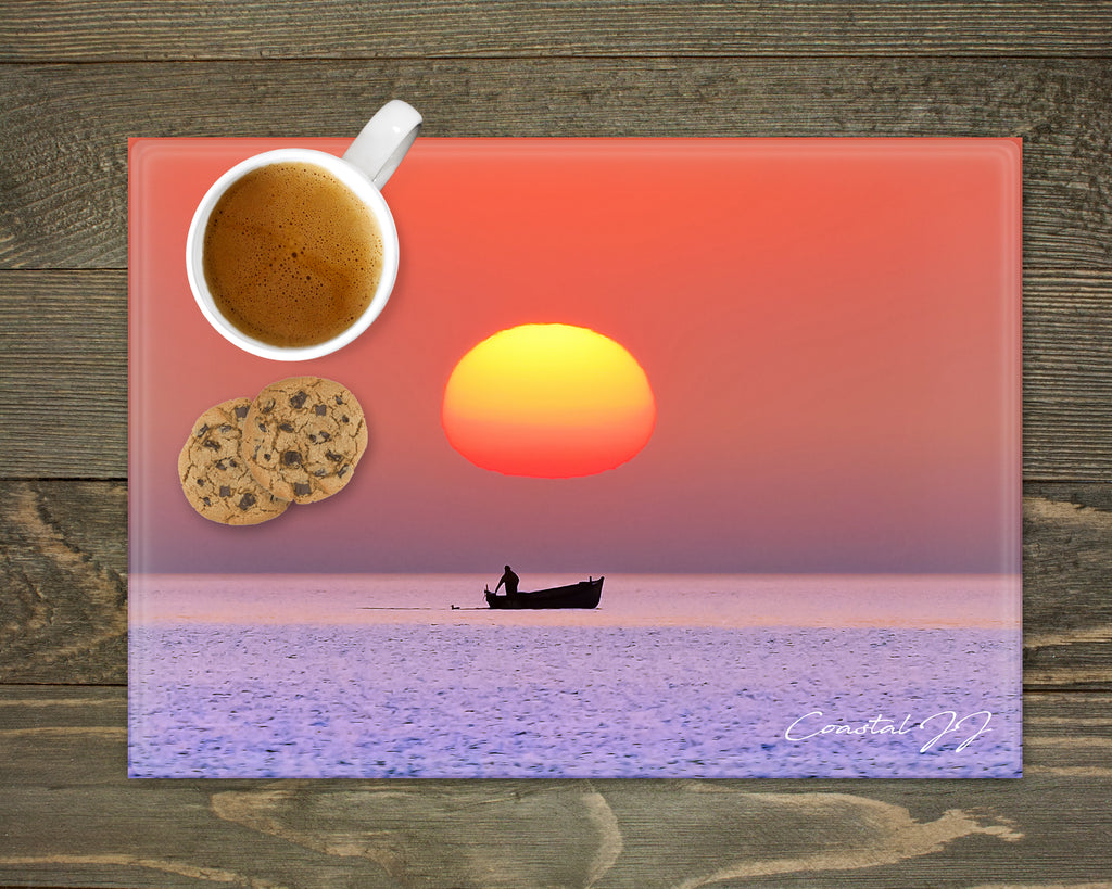 'Out to Sea at Dawn' - Worktop Saver
