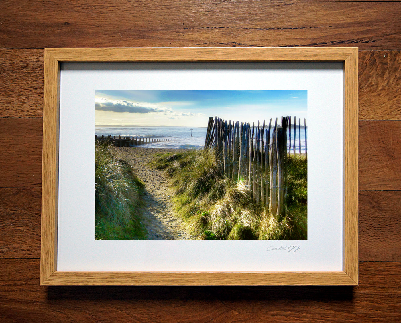 'Blue Skies and Sand Dunes'  Framed Print