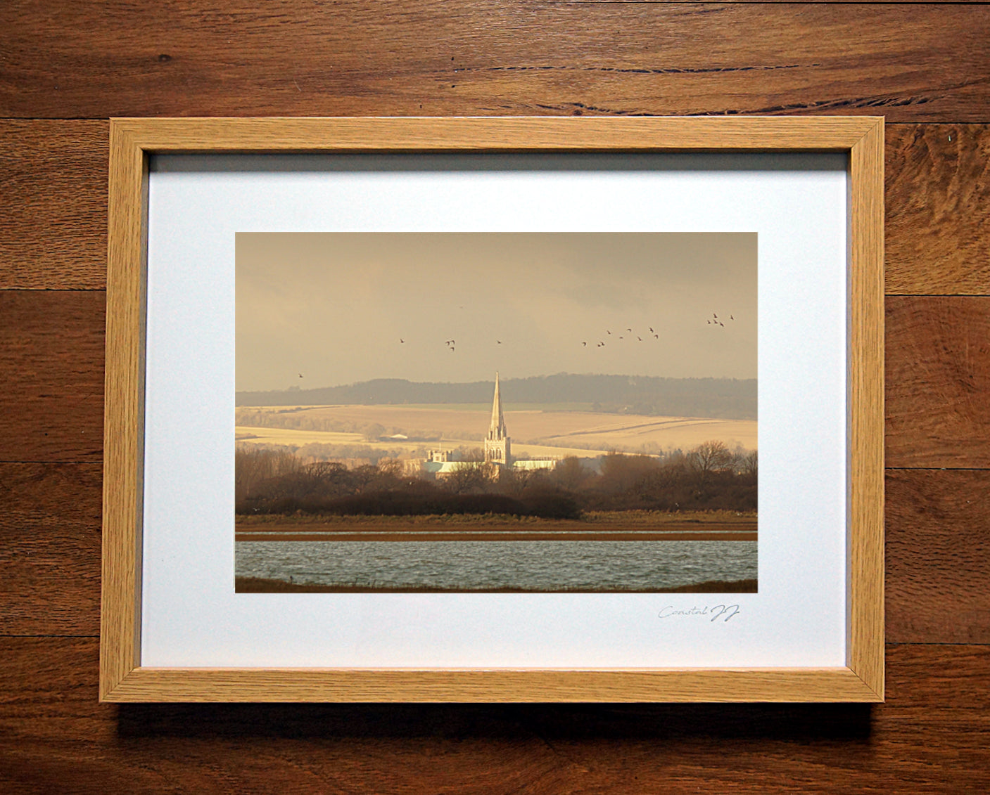 'The Timeless View Across the Ages' Framed Print - £40