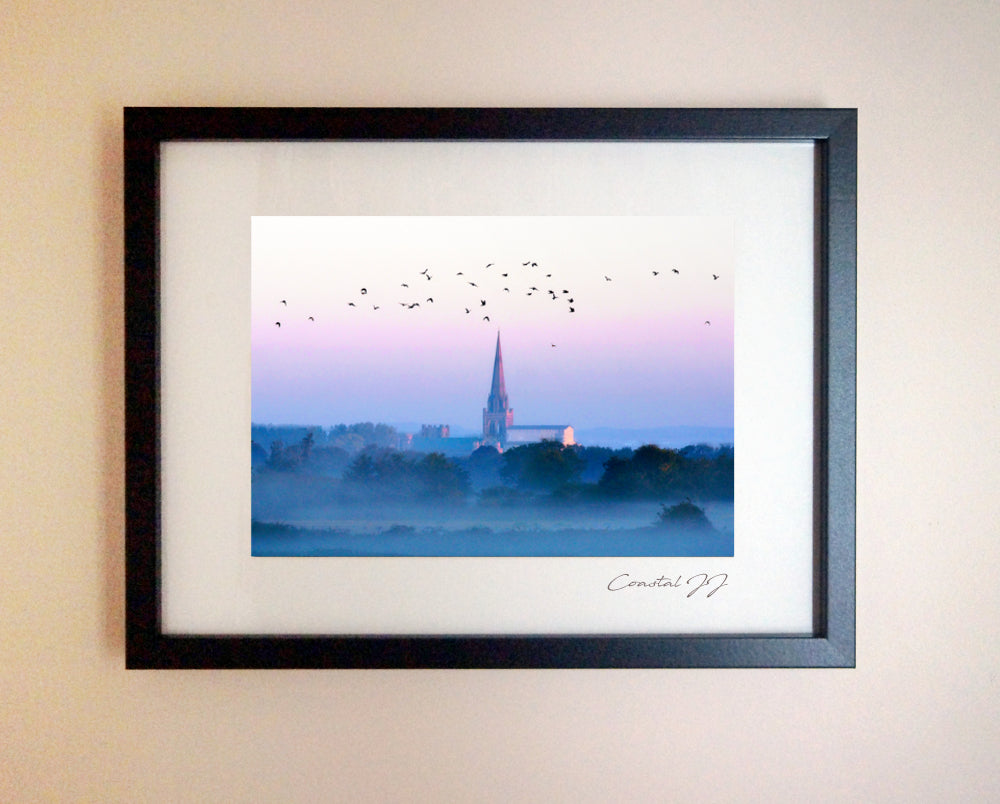 'Chichester Cathedral on a Misty Autumnal Morning' Framed Print