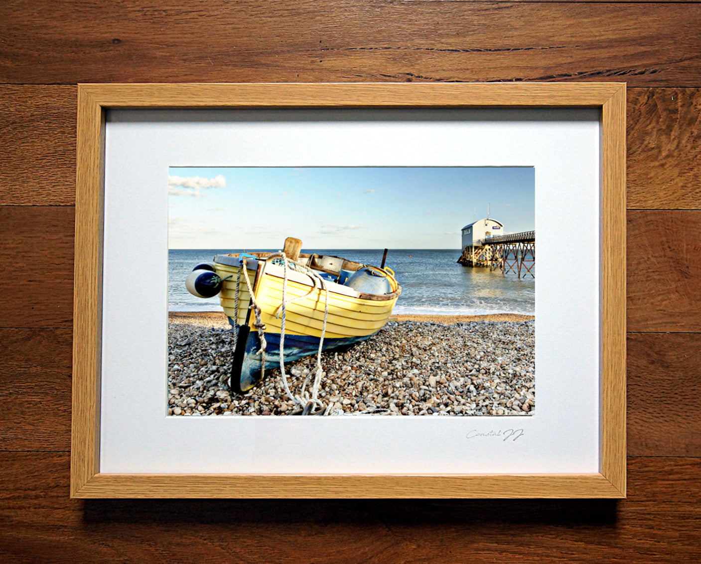 'A Spring Afternoon at the Old Selsey Lifeboat Station' Framed Print - £40