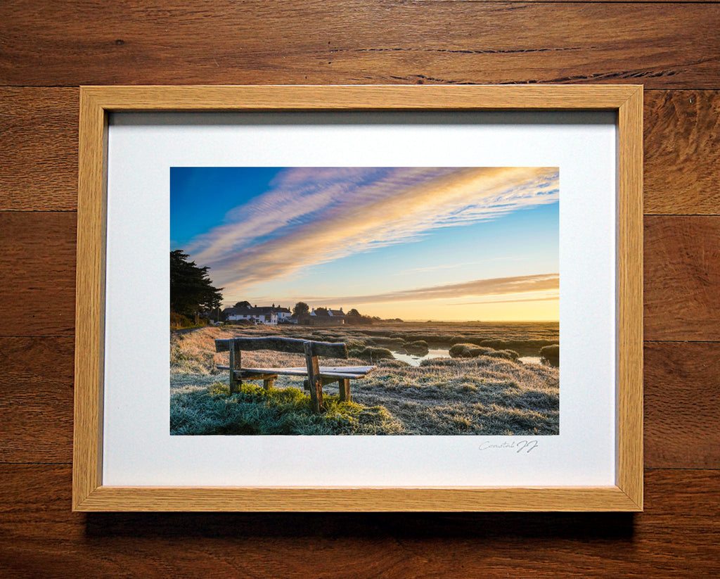 'Sidlesham Quay on a Frosty Winter's Morning'  Framed Print