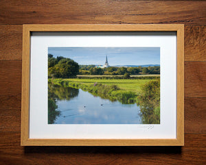 'Hunston Canal on a Summer's Day'  Framed Print