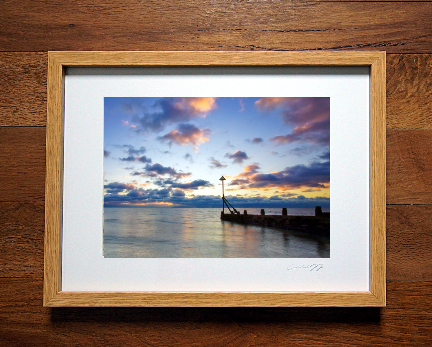 'Autumn Sunset at West Beach' Framed Print - £40