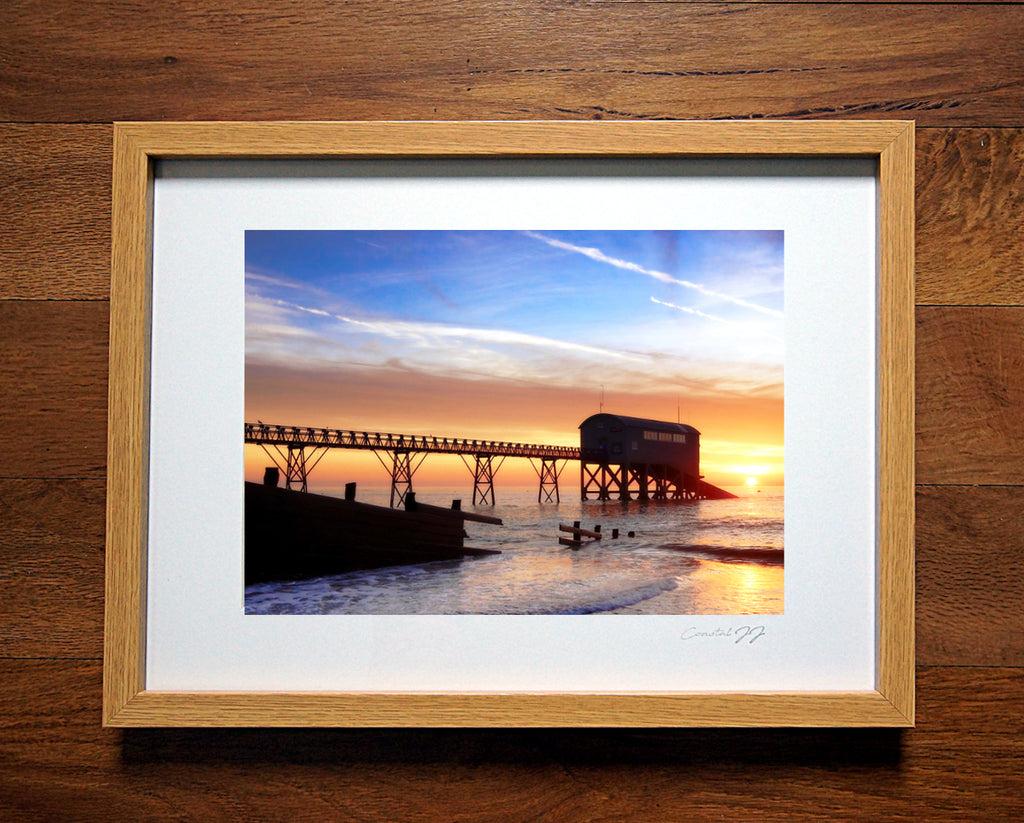 'Winter Sunrise over the Lifeboat Station'  Framed Print - £40
