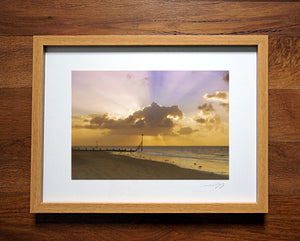 'Sunbeams at Dawn' Framed Print - £40