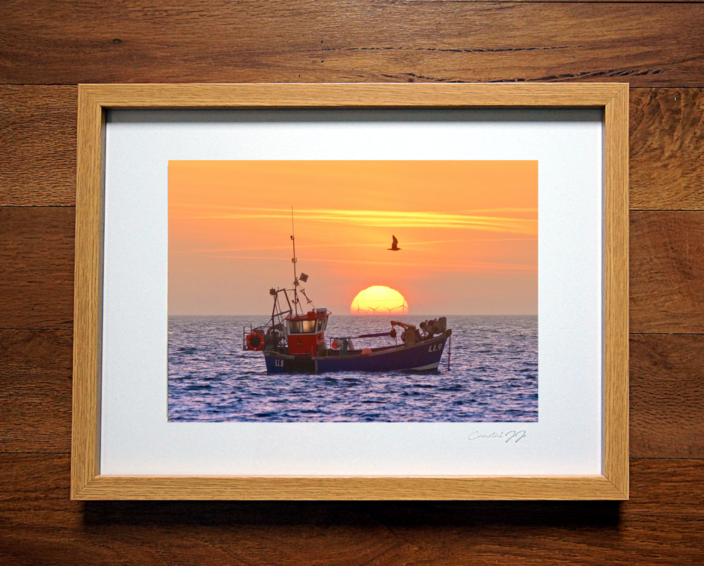 'Golden Glow of an Autumnal Sunrise'  Framed Print