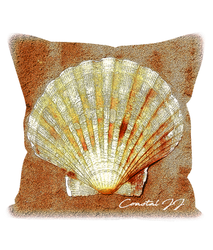 "'Selsey Scallop' 18"" Cushion Faux Suede"