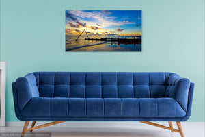 'Sunset in Deep Blue' Canvas Print