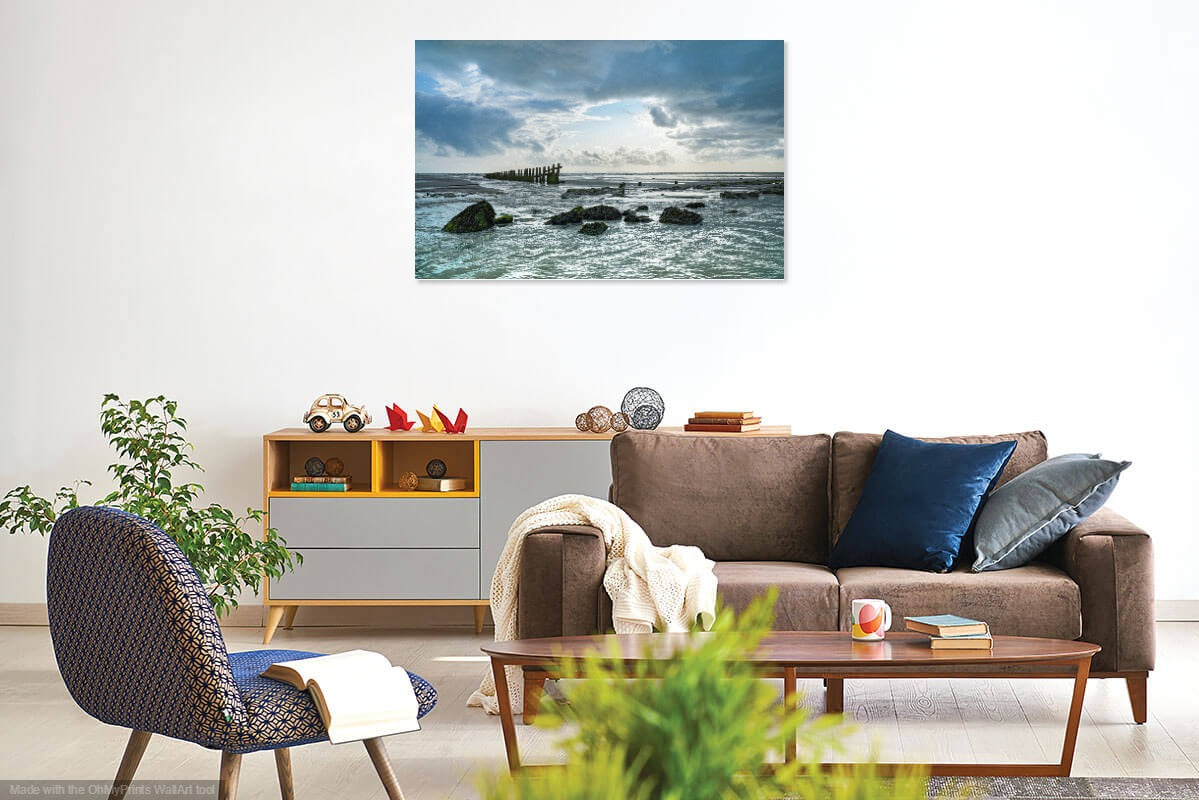 'Medmerry Beach at Summer's End' Canvas Print