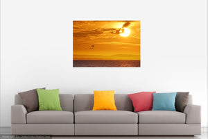 'South Downs Summer Sunrise' Canvas Print