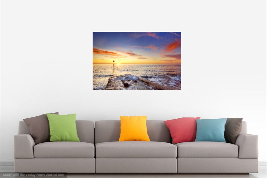 'Southern Most Point Sunrise in Mid-Winter' Canvas Print