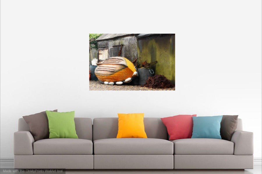 'The Fishing Huts' Canvas Print