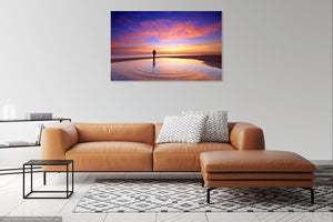 'Ripples Through a Winter  Sunset' Canvas Print - £55 to £75