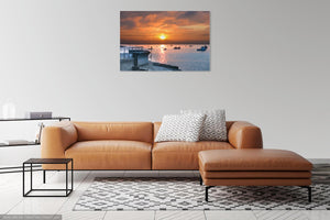 'Fiery June Sunrise' Canvas Print
