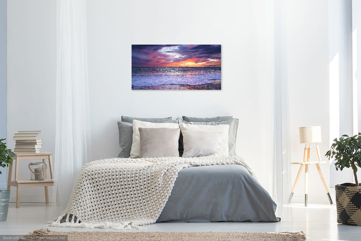 'Colours of an Autumn Sunset' Canvas Print