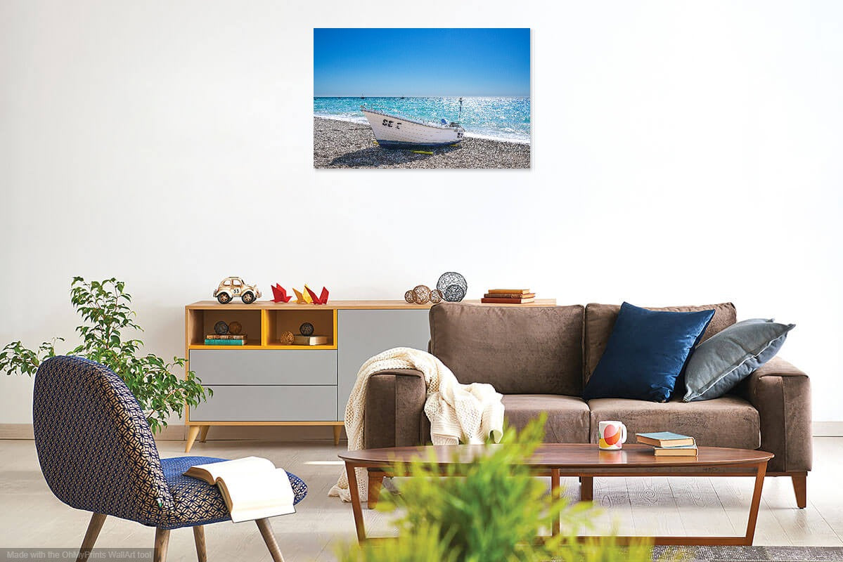 'Brilliant in Blue II' Canvas Print