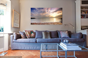 'Medmerry Sunset' Canvas Print
