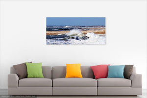 'Blue Skies and Stormy seas' Canvas Print