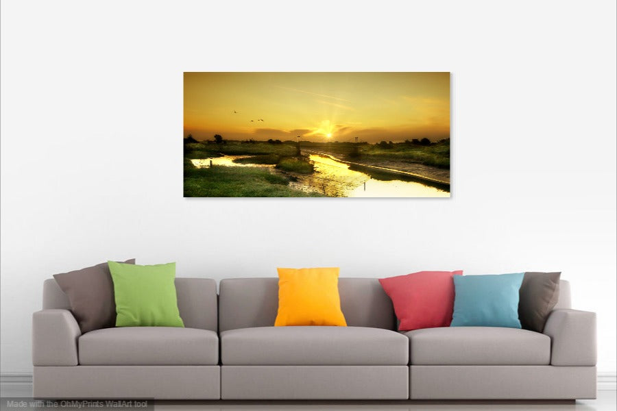 'Autumn Sunrise at Pagham Harbour'  Canvas Print