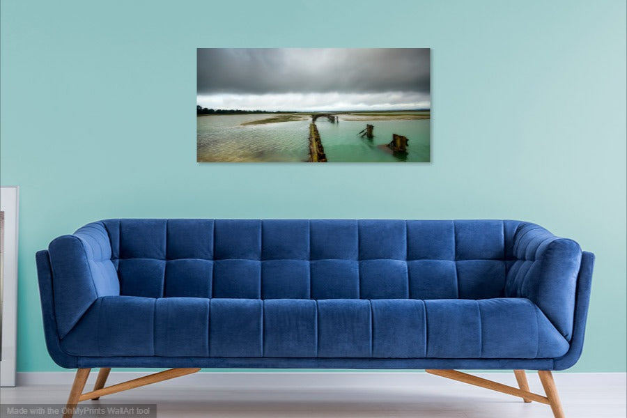 'Summer Storm over Pagham Harbour' Canvas Print
