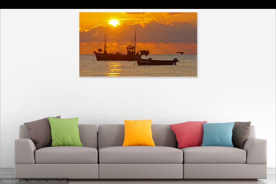'The Fiery November Dawn' Canvas Print