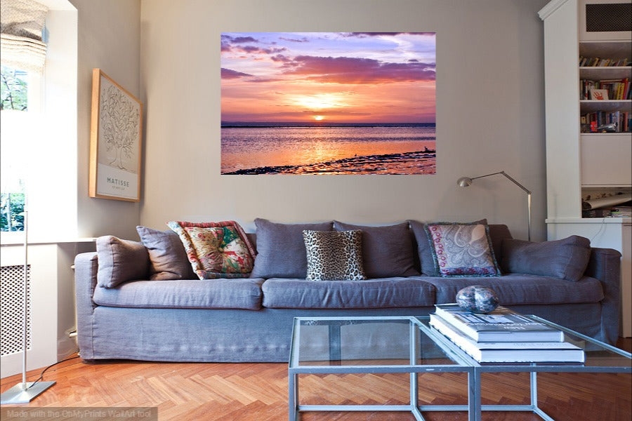 'A Calm Winter's Sunset' Canvas Print