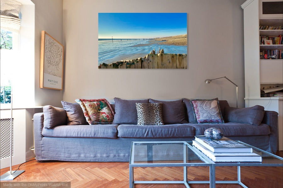 'Bright and Blue' Canvas Print