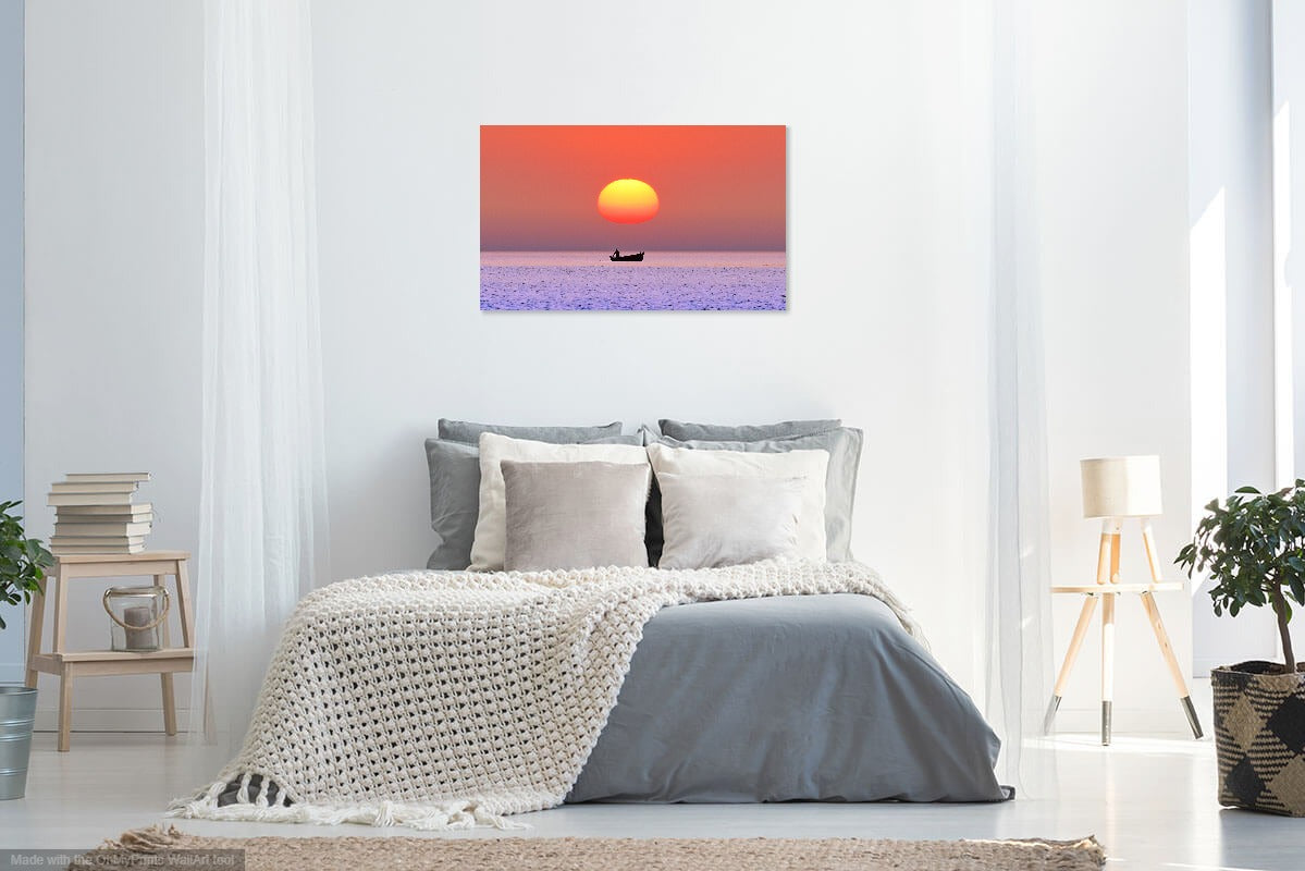 'Out to Sea at Dawn' Canvas Print