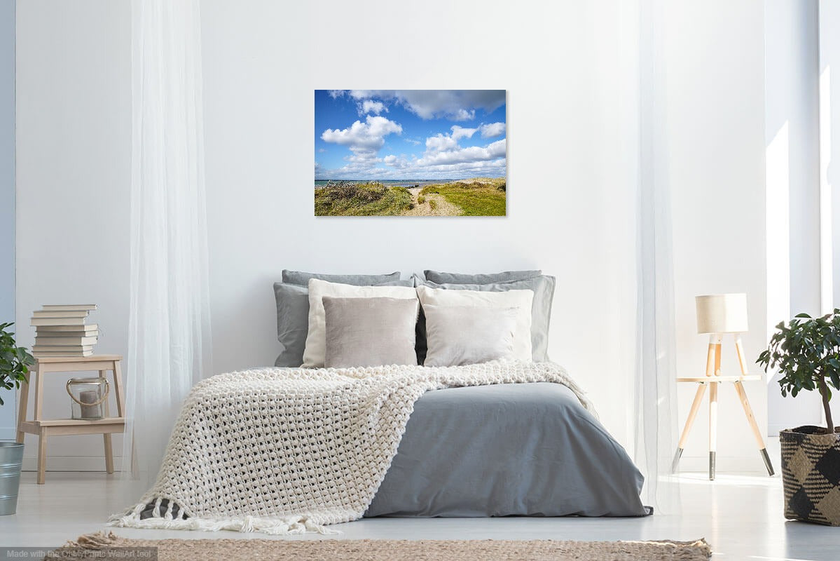 'Sea, Dunes and Sky' Canvas Print